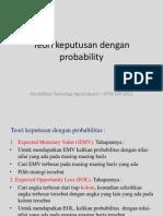Teori Keputusan Dengan Probability