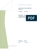 Shaft Voltage Testing Report