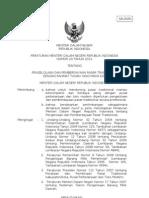011 Permendagri No. 20 Tahun 2012 Ttg Pengelolaan & Pemberdayaan Pasar Tradisional
