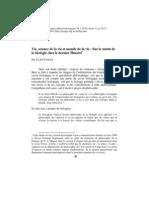 [BAP, Vol.vi, 2, 2010 (Actes 2), p.42-72] FARGES, Julien - Vie, Science de La Vie Et Monde de La Vie. Sur Le Statut de La Biologie Chez Le Dernier Husserl