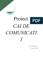 Proiect Cai de Comunicatii