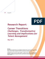 Research Report on Career Transitions