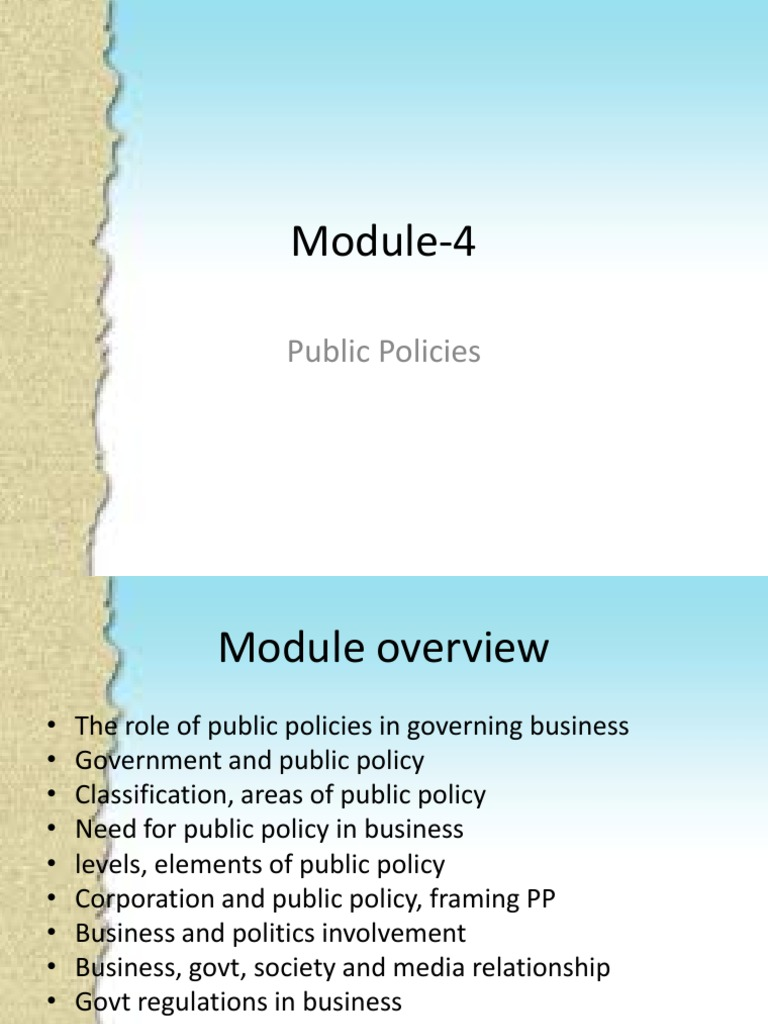 elements of public policy