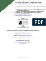 Journal of Positive Behavior Interventions 2013 Wehman 144 55