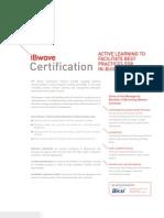 iBwave Certification Datasheet