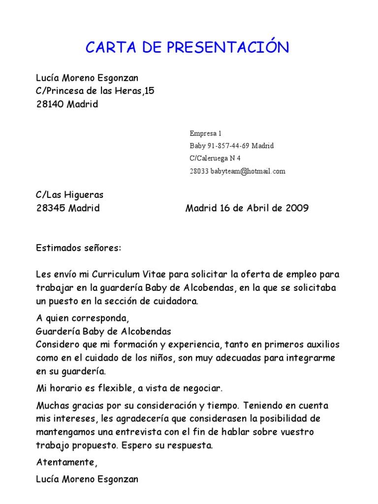 Moderno Curriculum Vitae Carta De Solicitud Pdf Regalo - Ejemplo De ...