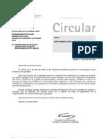 Circular 5 de 09 Carta Sindical Por La Igualdad