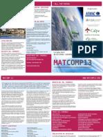 MATCOMP'13, Folleto y Programa