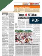 thesun 2009-04-28 page11 troops kill 20 taliban militants in pakistan