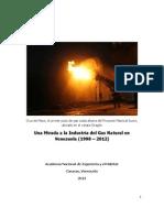 Una Mirada a La Industria Del Gas en Venezuela (1998-2012)