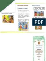 TRIPTICO Educación en el Tahuantinsuyo