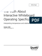 Interactive Whiteboard Operating Specifications