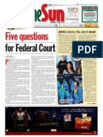 thesun 2009-04-29 page01 five questions for federal court