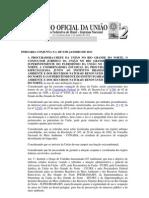 PORTARIA CONJUNTA N 1 CRIAÇÃO  GT AMBIENTAL OCUPAÇÃO ÁREA LITORAL DORN