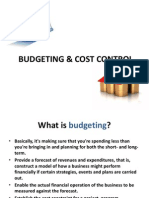 PPT:- Budgeting & Cost Control