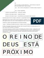 catequese 16 - jogo e esquema para introdução à palavra de Deus