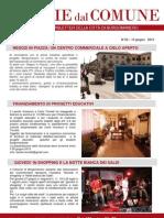 Notizie Dal Comune di Borgomanero del 13 Giugno 2013