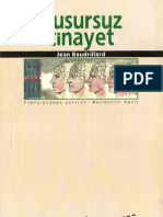 Jean Baudrillard - Kusursuz Cinayet