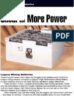 Legacy Mining Battery Brochure