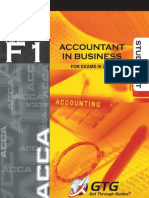 F1 Accountant in Business Sec A1