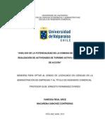 Análisis de la potencialidad de la comuna de Concón para la realización de actividades de turismo activo. Propuesta Plan de Acción
