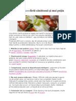 Sfaturi pentru o dietă sănătoasă şi mai puţin costisitoare