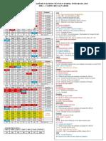 Calendário Integrado 2013