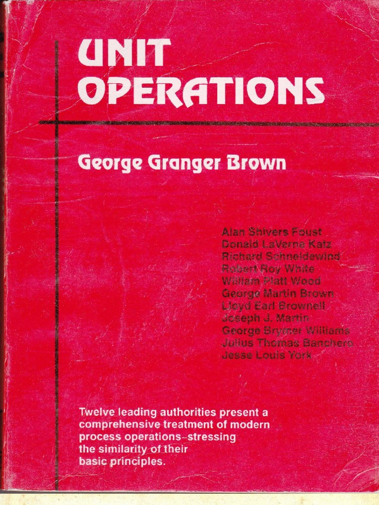 unit operations by g g brown rh fr scribd com Operation Manual Clip Art Operations Manual Examples