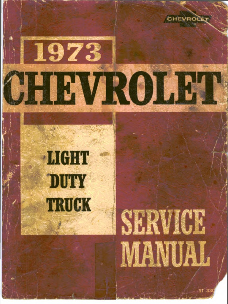 St 330 73 1973 chevrolet light truck service manual truck motor oil fandeluxe Choice Image