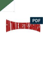 GUIA PARA LA TOMA DE MUESTRAS SANGUÍNEAS 2013