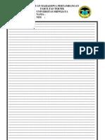 Format Penulisan Tugas Besar 2011