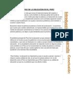 DISCURSO DE LA EDUCACIÓN EN EL PERÚ