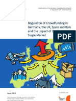 Regulation of Crowdfunding in  Germany, the UK, Spain and Italy  and the Impact of the European  Single Market