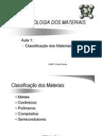 Aula 1 Classificacao Dos Materiais