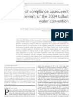 Logistics of Compliance Assessment and Enforcement of the 2004 Ballast Water Convention