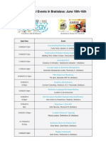 International Events in Bratislava Newsletter