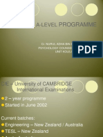 A Level Briefing Mrsm Bp2