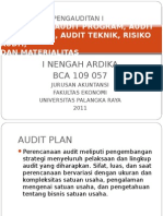 Audit Plan, Audit Program, Audit Procedures, Audit Teknik, Risiko Audit