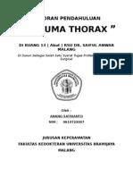 Laporan Pendahuluan Trauma Thorax Di Ruang 13 ( Akut ) RSU Dr. Saiful Anwar Malang