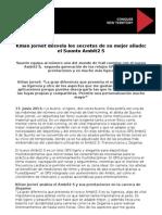 Kilian Jornet Desvela Los Secretos de Su Mejor Aliado El Suunto Ambit2 S