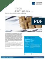 Datenblatt Fachwirt für Finanzberatung IHk