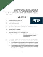 13 Junio 2013 Agenda