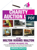 Charity Auction Booklet for the Charlie Mortimer FUND