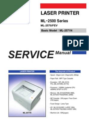 ML-2570 service pdf | Electrostatic Discharge | Flash Memory