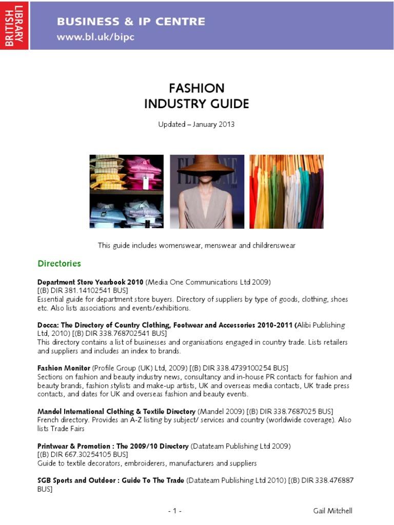 Fashion Industry Guide | Fashion | Fashion & Beauty