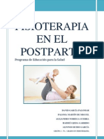 Fisioterapia en Mujeres Postparto