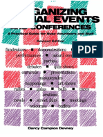 Organizing Special Events and Conferences by Darcy Devney