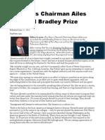 Fox News Chairman Ailes Awarded Bradley Prize