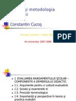 Constantin Cucos Teoria Si Metodologia Evaluarii