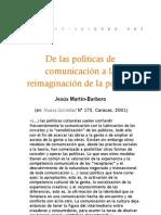 De las políticas de comunicación a la reimaginación de la política
